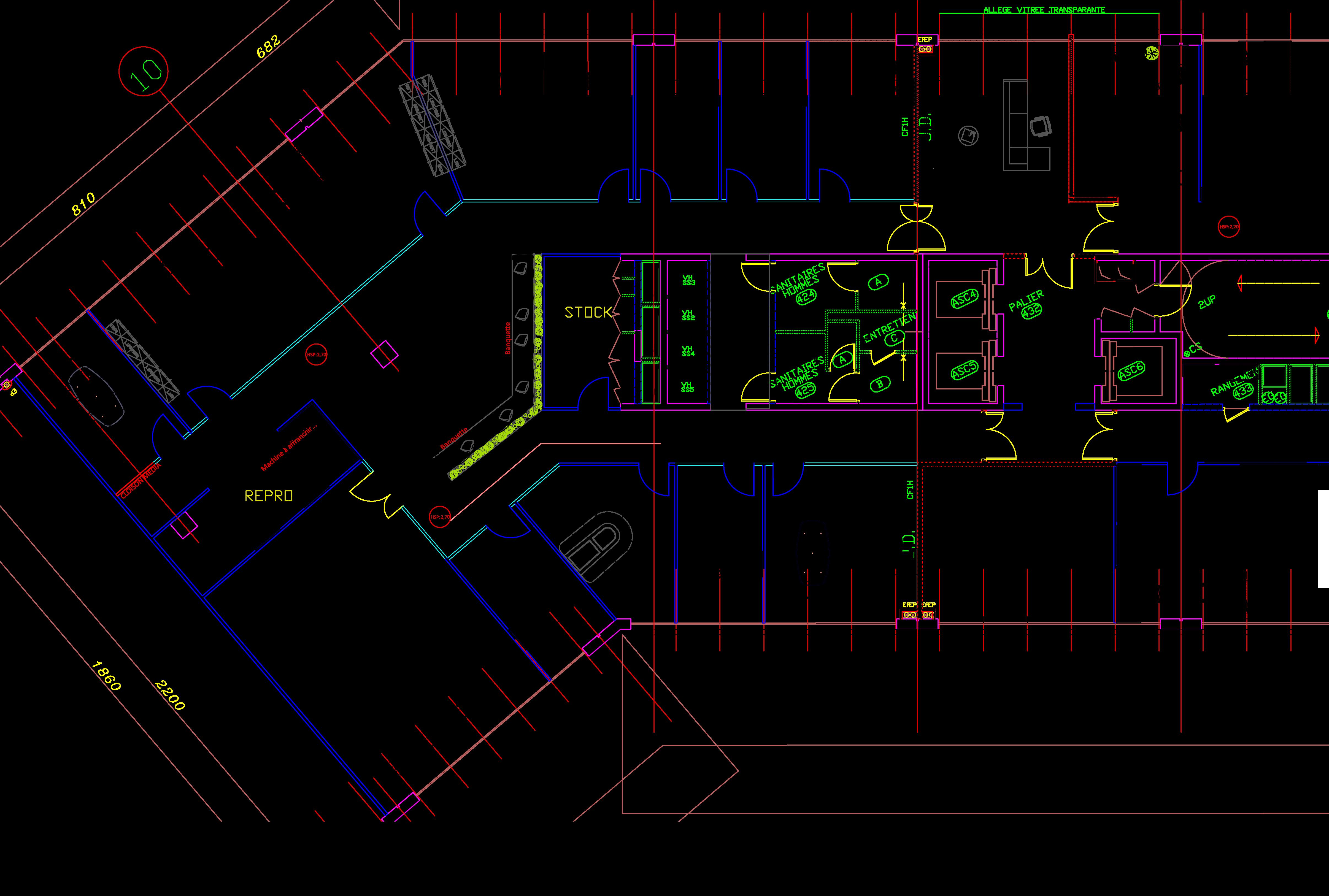 Plan 2D Restaurant