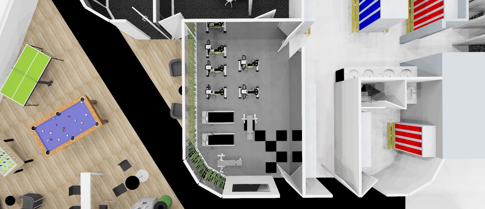 Plan 3D vue de haut